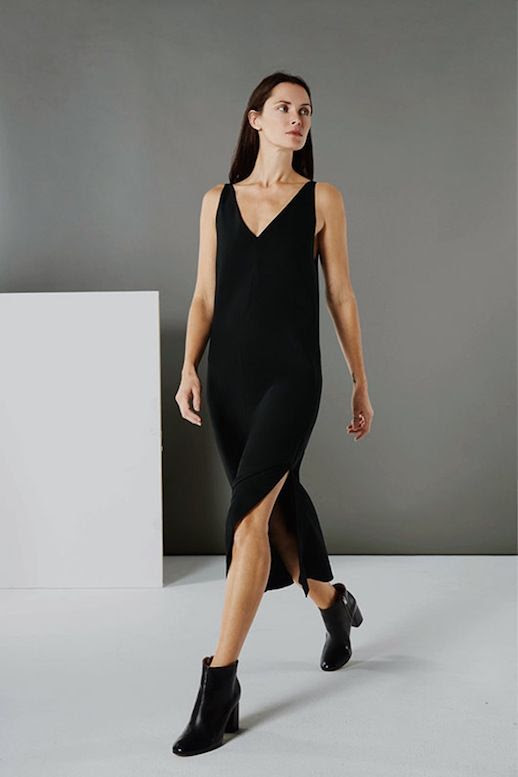 Le Fashion Blog Everlane E1 Capsule Collection Cami Dress Black Heeled Ankle Boots photo Le-Fashion-Blog-Everlane-E1-Capsule-Collection-Cami-Dress-Black-Heeled-Ankle-Boots.jpg
