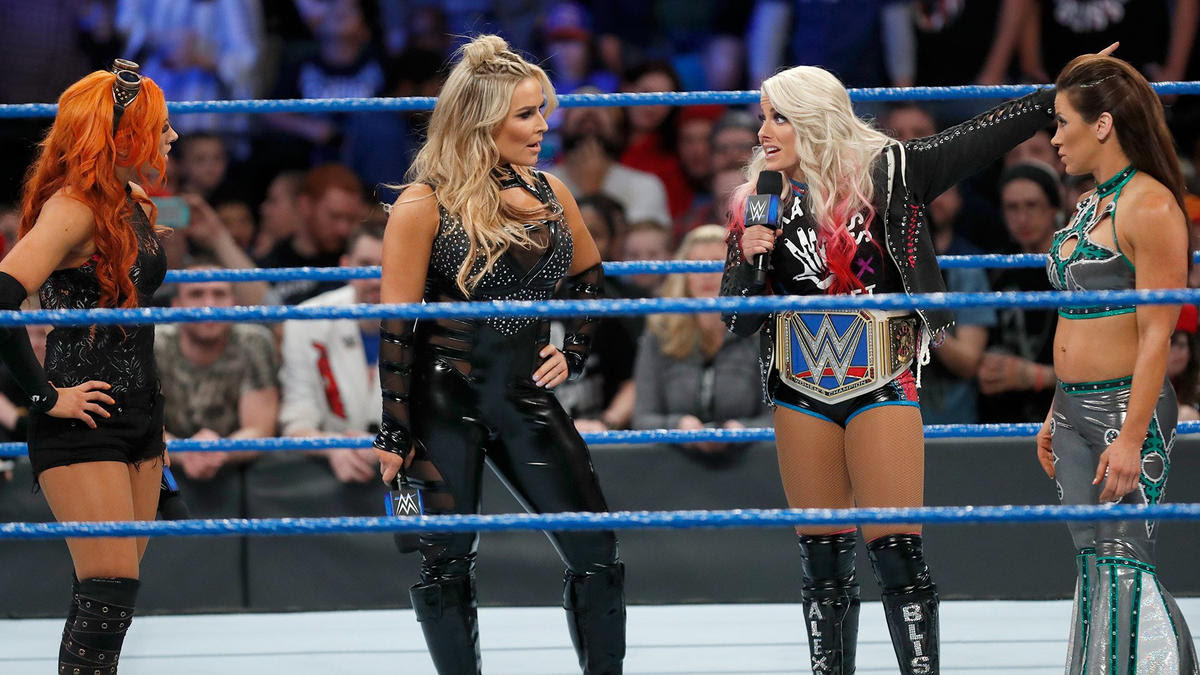 Bliss corrects Natalya and says she's not getting a title opportunity at WrestleMania.
