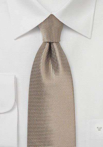 Solid Taupe Color Necktie with Texture   Bows N Ties.com