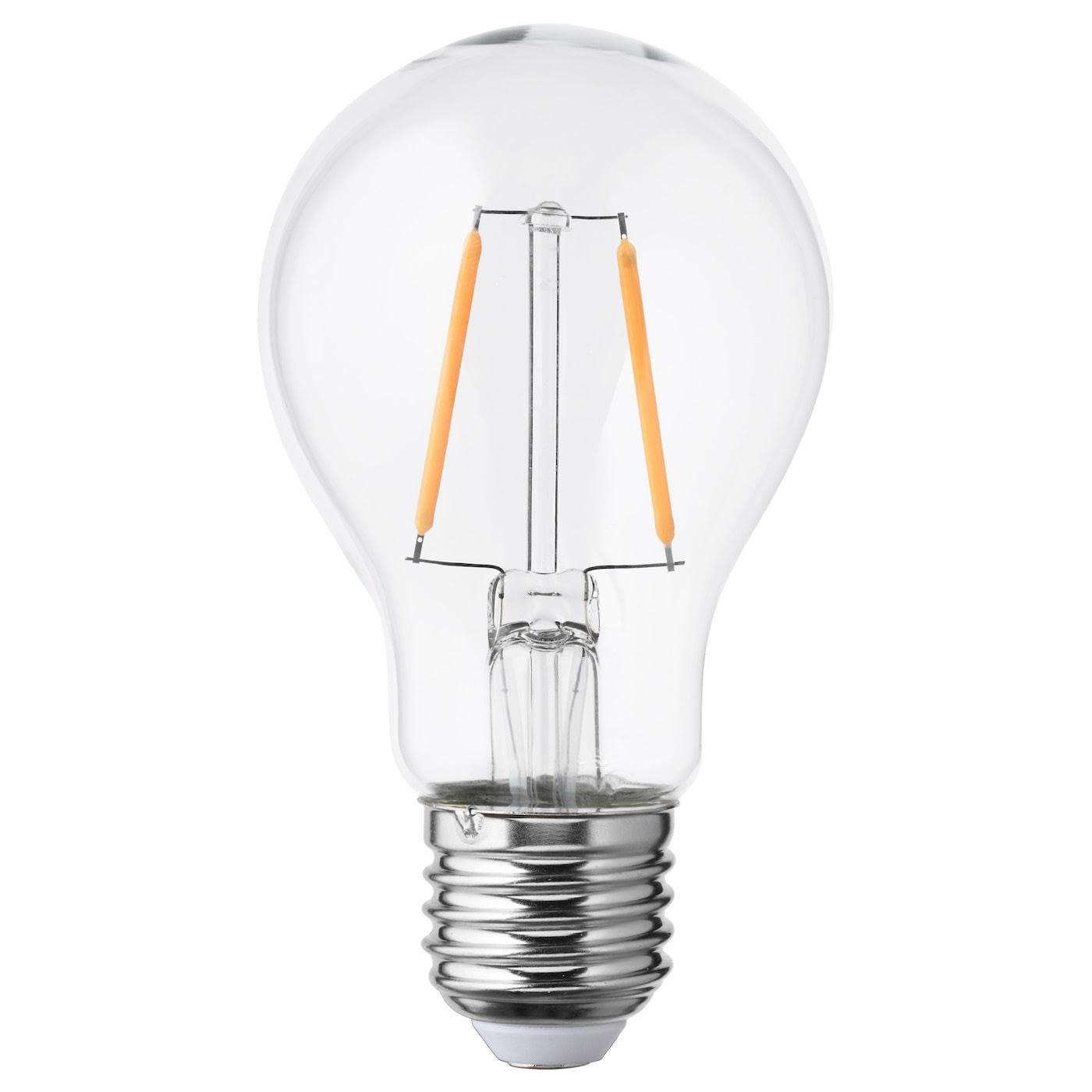 LUNNOM LED bulb E27 100 lumen Globe clear glass 60 mm - IKEA