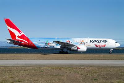 QANTAS Airways Boeing 767-338 ER VH-OGG (msn 24929) (Disney's Planes) SYD (Micheil Keegan). Image: 921209.