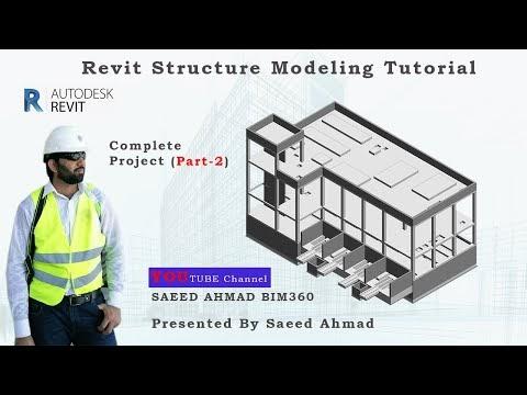 CONCRETE STRUCTURE BUILDING MODELING   REVIT TUTORIAL   VIDEO PART 2