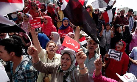 Egyptians protest against President Morsi protests in Cairo.