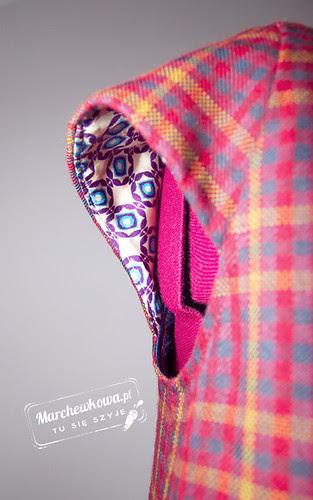 Burda 9/2012, dress 108, marchewkowa, blog, szafiarka, szycie, krawiectwo, retro, moda, fashion, 60s, lata sześćdziesiąte, kołnierzyk, sukienka, kratka, wykrój