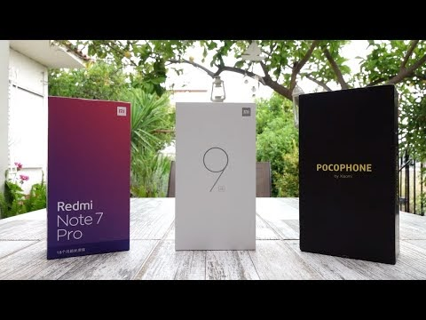 Mi9 SE vs Redmi Note 7 Pro vs Pocophone + Giveaway [Greek Review]
