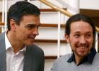 Pedro Sánchez y Pablo Iglesias, este viernes.