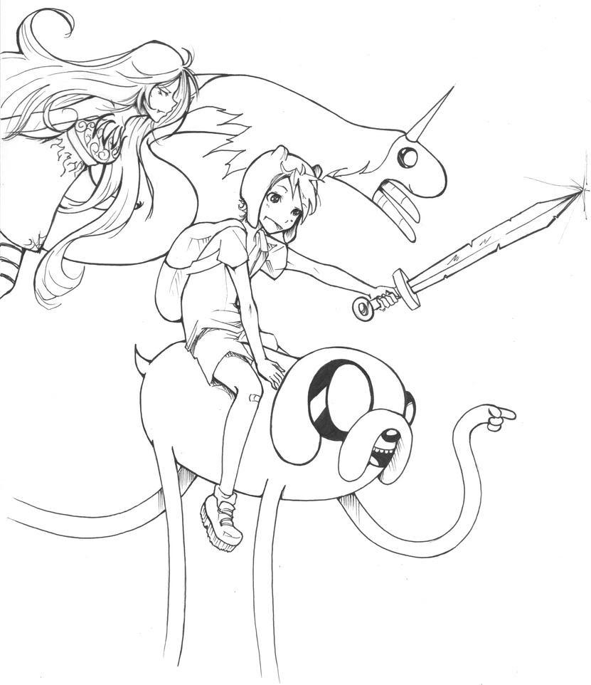 Dibujo De Chibi Finn Kawaii Para Colorear Dibujos Para