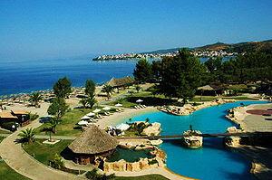 View from Meliton Hotel, in Porto Carras Resor...