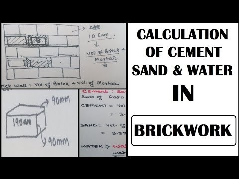 How To Calculate Cement Sand Water In Brickwork | Tutorial In Hindi | Learning Technology