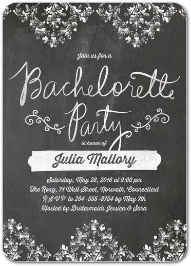 bachelorette party invitations wedding diva floral