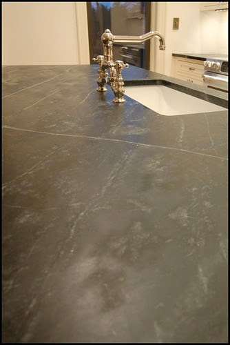 Finished kitchen, oiled soapstone