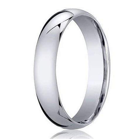 Benchmark 950 Platinum Men's Wedding Ring, Traditional
