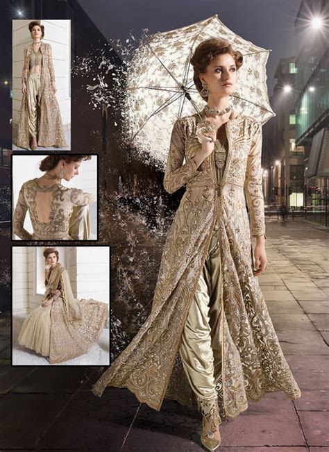 Charismatic Newly Beige Viscose Dhoti Style Party Wear