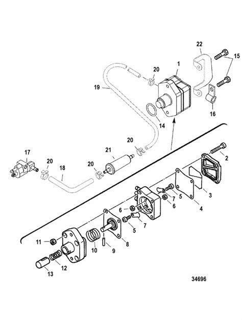 Mercury Marine 50 HP Bigfoot (4-Stroke) Fuel Pump Parts