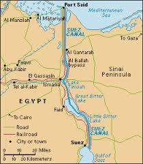 The Suez Canal is a waterway