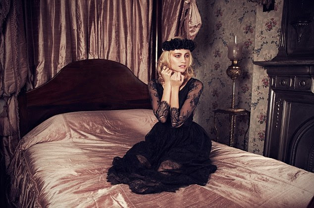 Gothic glamour: The singer-slash-model made sure she explored all aspects of her character, including the dark side