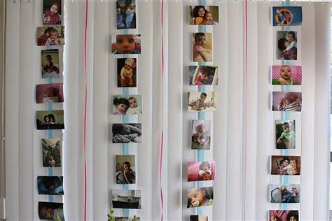 ideas for displaying photos at a party   Google Search