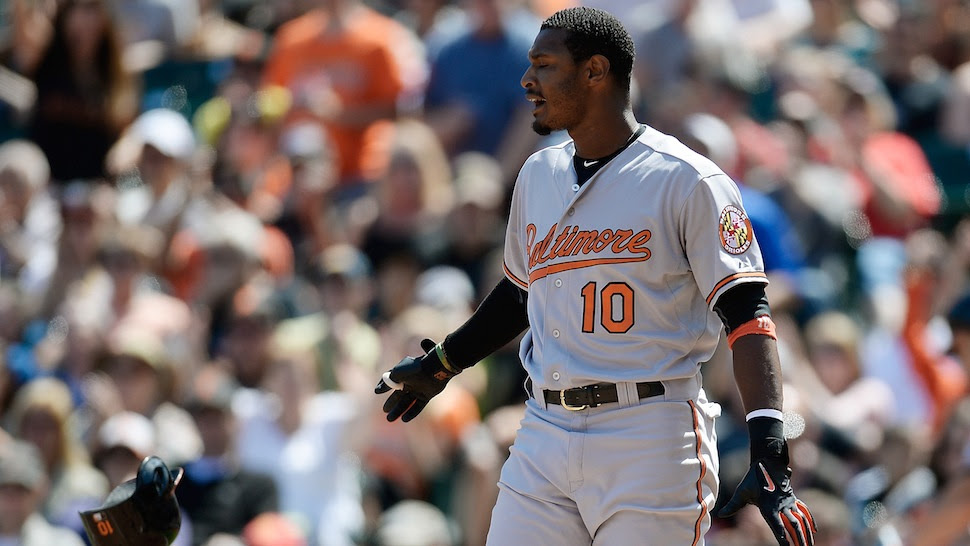 Adam Jones Says A Giants Fan Threw A Banana At Him