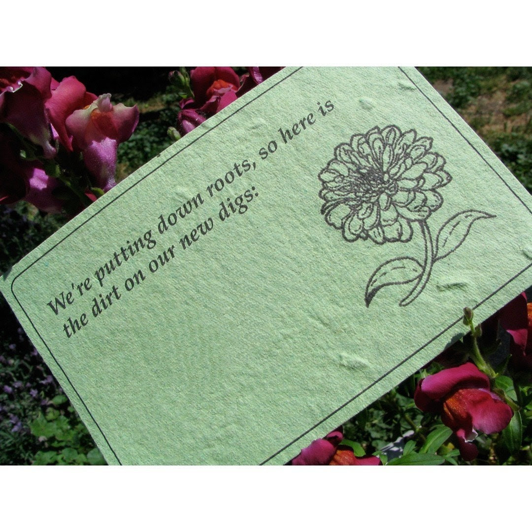 Plantable - Change of Address - Custom Moving Announcement Postcards