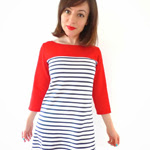 Contrast Yoke Breton Coco Dress