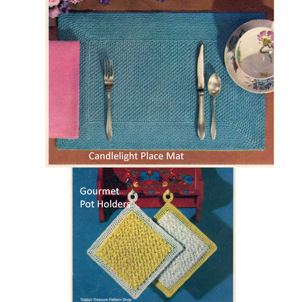 Easy Crocheted Placemats Pattern