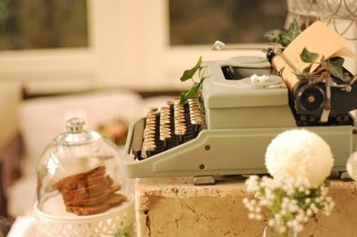 candle, cute, deco, photography, shabby chic, type writer
