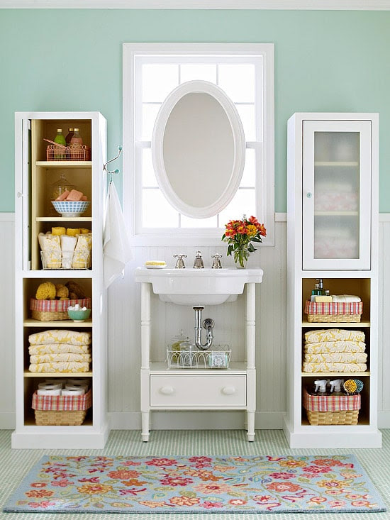 pretty & functional} Bathroom Storage Ideas - The Inspired Room