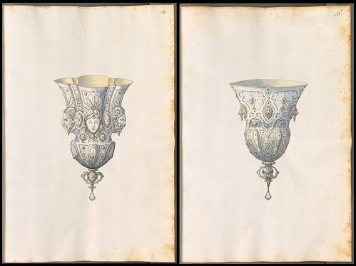 stirrup cups or non-standing goblet sketches
