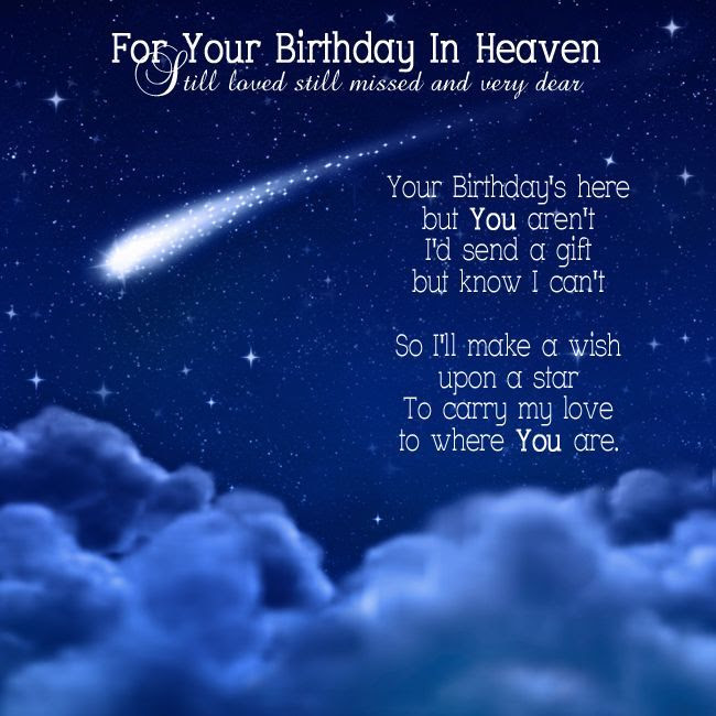 For Your Birthday In Heaven Pictures Photos And Images For