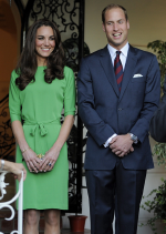 Kate Middleton wearing Green Dress from Diane von Furstenberg