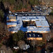 An aerial photograph of Sandy Hook Elementary School on Dec. 14, 2012, the day of the mass shooting.