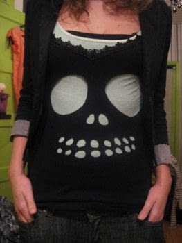 Completed Project: Diy Cutout Skully Tee Picture #1