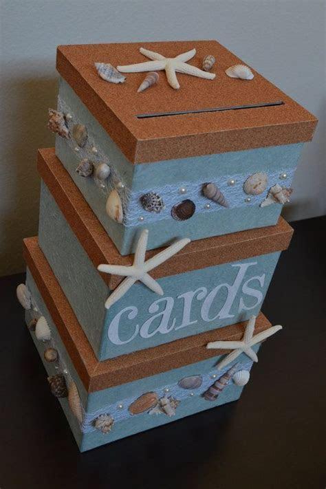 beach wedding themed wedding card box holder on Etsy, $95