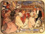 Alphonse Mucha.  Amants.