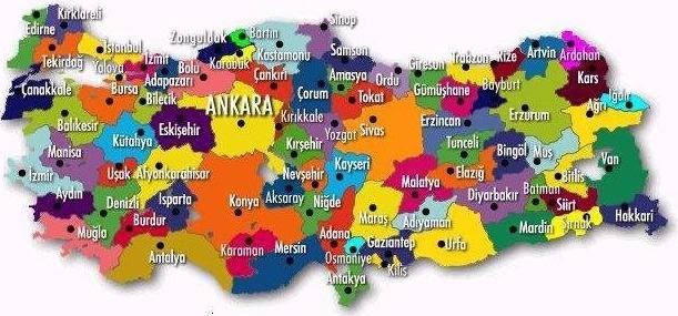 Türkiye Haritası öğretmen Kadromuzla Türkiyeyi En Iyi şekilde