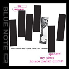 Horace Parlan Speakin' My Piece cover