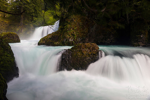 Spirit Falls, Upper and Lower Tiers, Skamania County, Washington