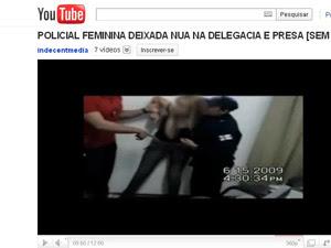 Vídeo gravado pela Corregedoria foi parar na internet  (Foto: Reprodução)