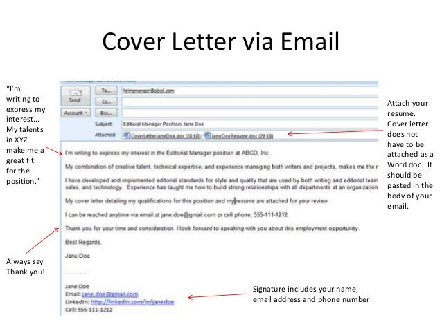 Email Cover Letter And Resume from lh6.googleusercontent.com