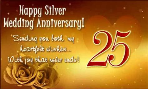 happy 25 anniversary   25th Wedding Anniversary Wishes