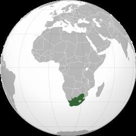 Localização da África do Sul