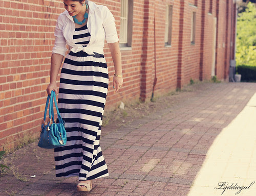 striped maxi - crop