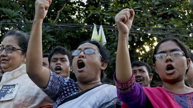 Women protest against bloggers' deaths - 11 August