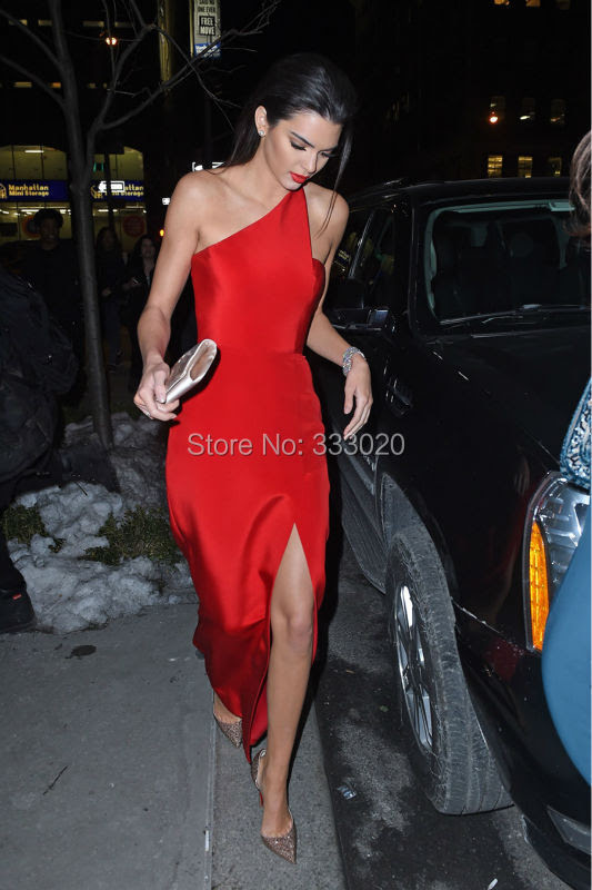 Red evening dress shoes