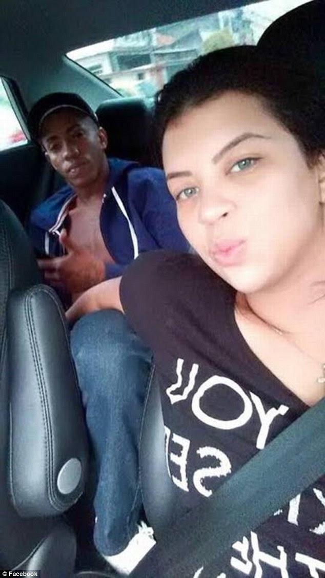 """Lembrada: Após a sua morte, Jady postou fotos com o gangster em sua página do Facebook.  Uma leitura: """"Na eternidade, eu estarei com meu amor do jeito que eu sempre quis, porque no céu o tempo todo é hora de ser feliz '"""