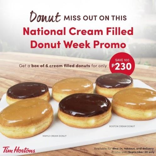 National Cream-Filled Doughnut Week at Tim Hortons