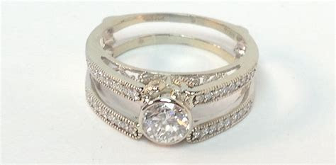 redesigned diamond wedding ring for anniversary celebration