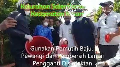 Video, Kelurahan Selembaran Jaya Buat Cairan Pengganti Disinfektan