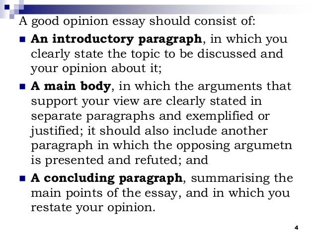 how to write a good introduction for an opinion essay
