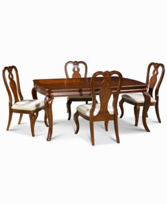 Bordeaux Louis Philippe-Style 5-Piece Dining Room Furniture Set ...